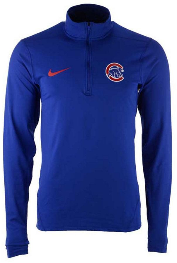 reputable site bc268 aef6a Nike Men s Chicago Cubs Dry Element Half-Zip Dri-fit Pullover