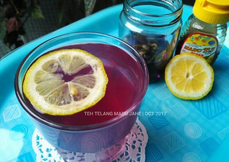 Resep Teh Telang Madu Jahe Minuman Hangat Oleh Arista Hilman Resep Madu Jahe Resep