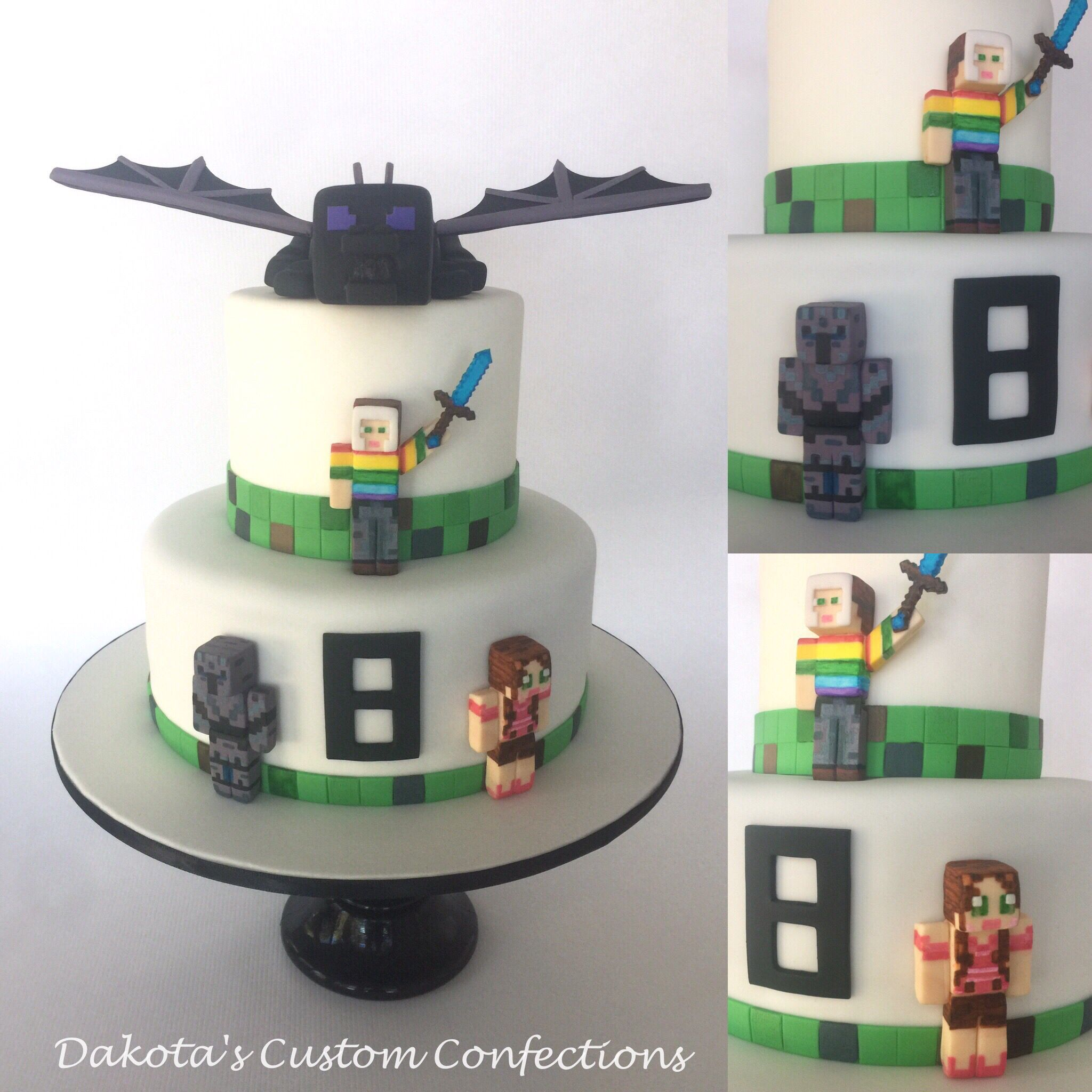 Minecraft Birthday Cake For My Son S 8th Birthday Featuring Pat