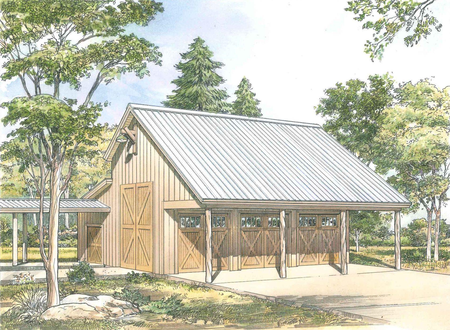 Plan 46061hc Rustic 3 Car Garage Plan With Shop 3 Car Garage Plans Barn Garage Plans Garage Plan