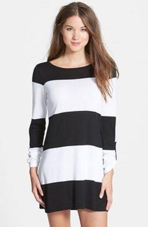 0294af58b00b6 Tommy Bahama Women s Beach Sweater Pullover Black   White Stripe Size L   TommyBahama  BoatNeck