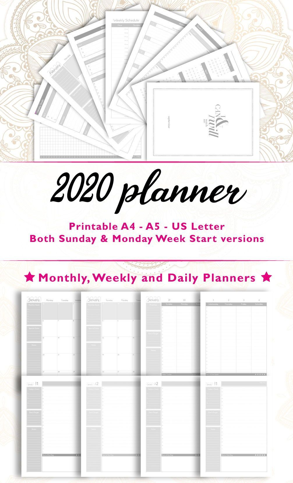 Goals List Printable 2020 memes lifestyle motivation in