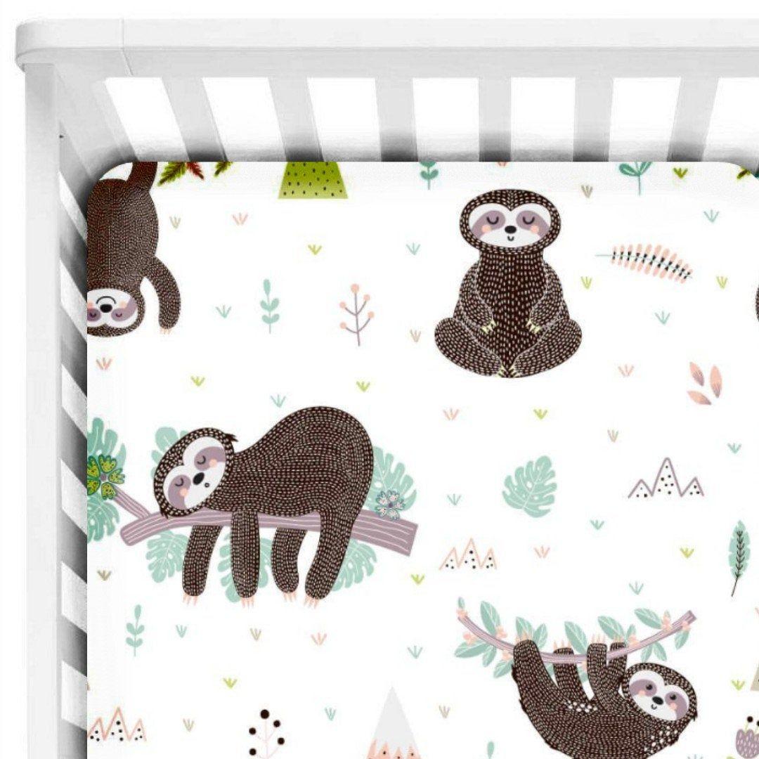 Sloth Fitted Crib Sheet Sloth Crib Sheets Sloth Crib Bedding Baby Fitted Sheets Crib Baby Sheet Sloth Nursery Sloth Gift Crib Bedding Boy Gender Neutral Nursery Bedding Boys Crib Bedding Sets Baby crib sheets for boys