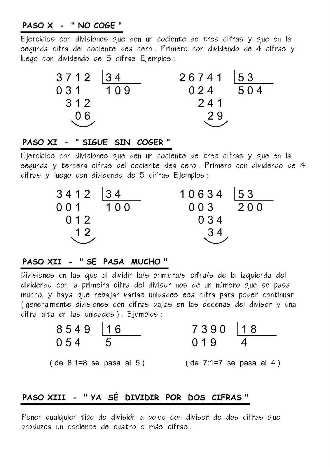 Resumen pr ctico para ense ar como hacer las divisiones y for Aprender a cocinar desde cero pdf