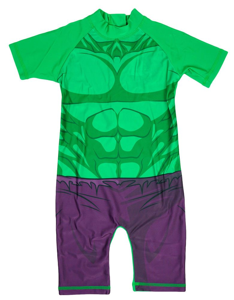 Nino El Increible Hulk Proteccion Del Sol Surf Traje De Bano 1 5 A