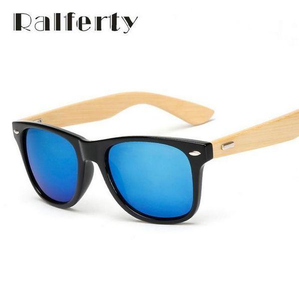 371a85863e70 Ralferty Retro Wood Sunglasses Men Bamboo Sunglass Women Brand Design Sport  Goggles Gold Mirror Sun Glasses Shades lunette oculo