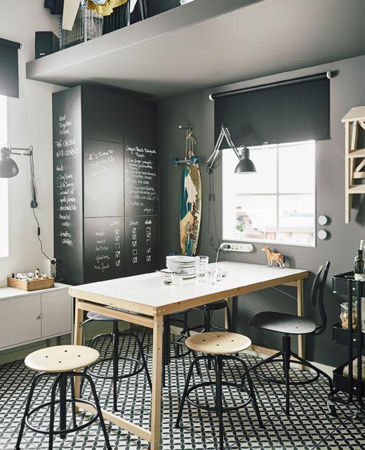 vous cherchez du mobilier gain de place testez la table de cuisine pliante g ran en blanc pin. Black Bedroom Furniture Sets. Home Design Ideas