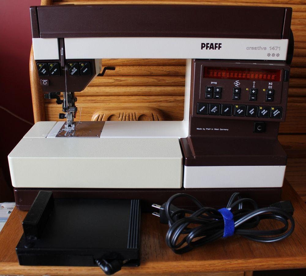 Bidding war on this one Vintage 1980 Pfaff Sewing Machine Creative 1471 99  Built in Stitches #32422093 #Pfaff