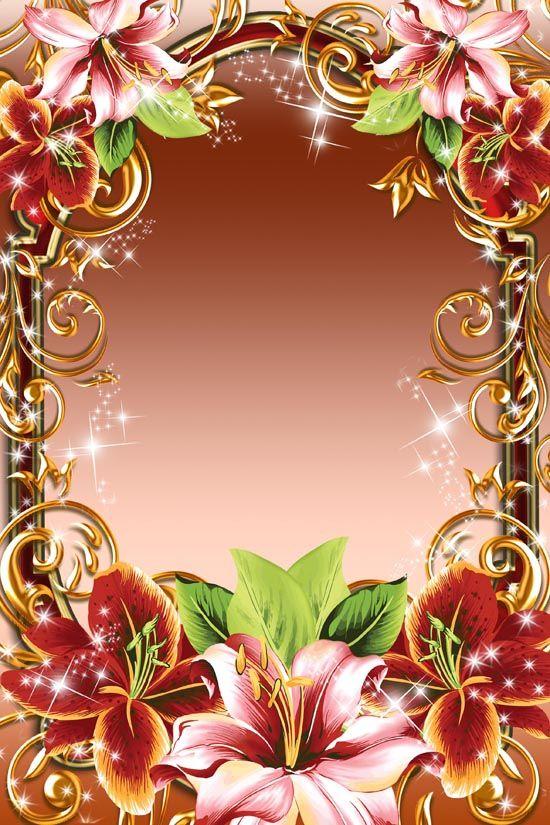 Поздравления, шаблоны открытки с лилиями