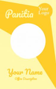 Id Card Panitia Yellow Kartu Desain Smp