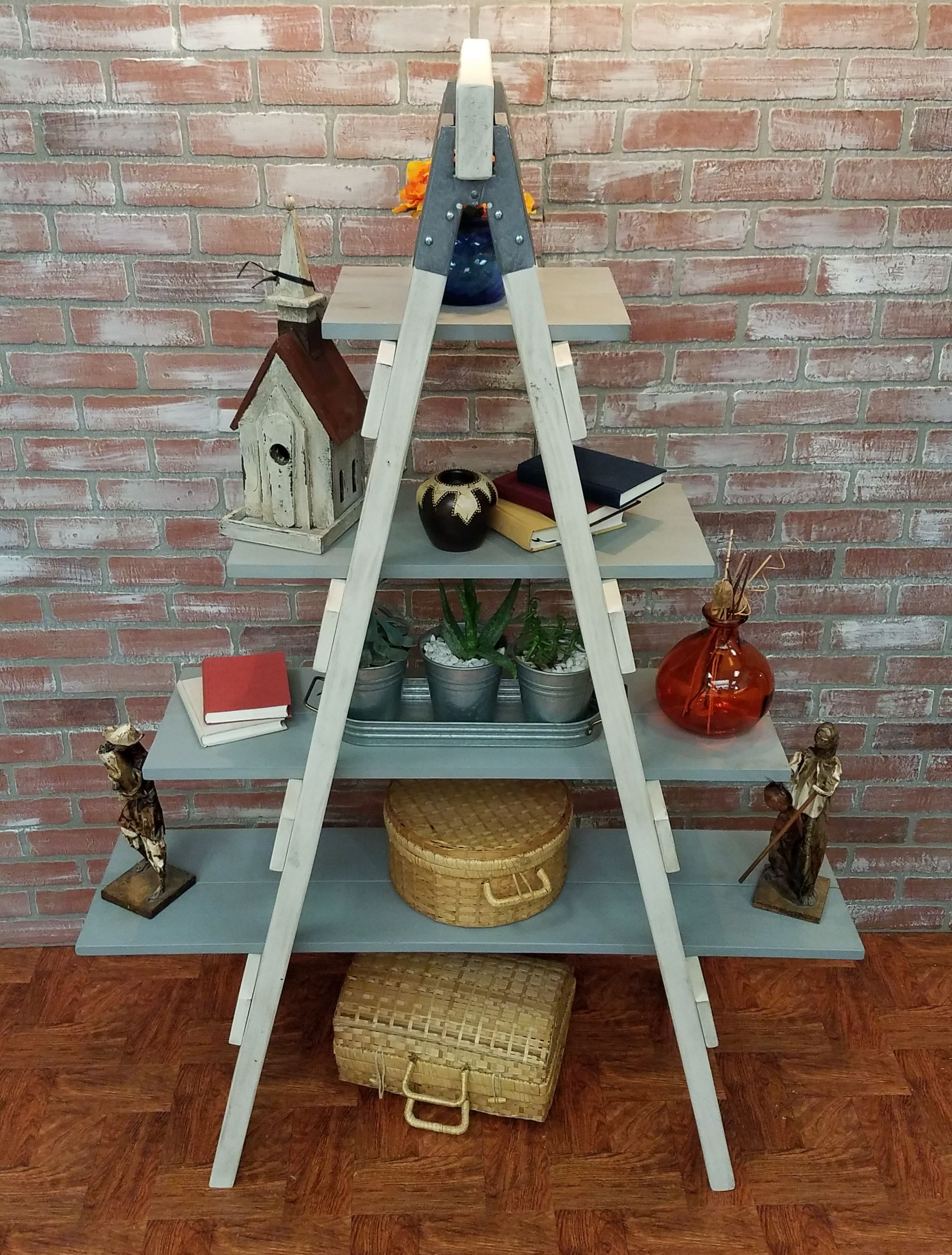 Rustic Ladder Shelf Farmhouse Style Furniture Country Style Furniture Rustic Shabby Chic