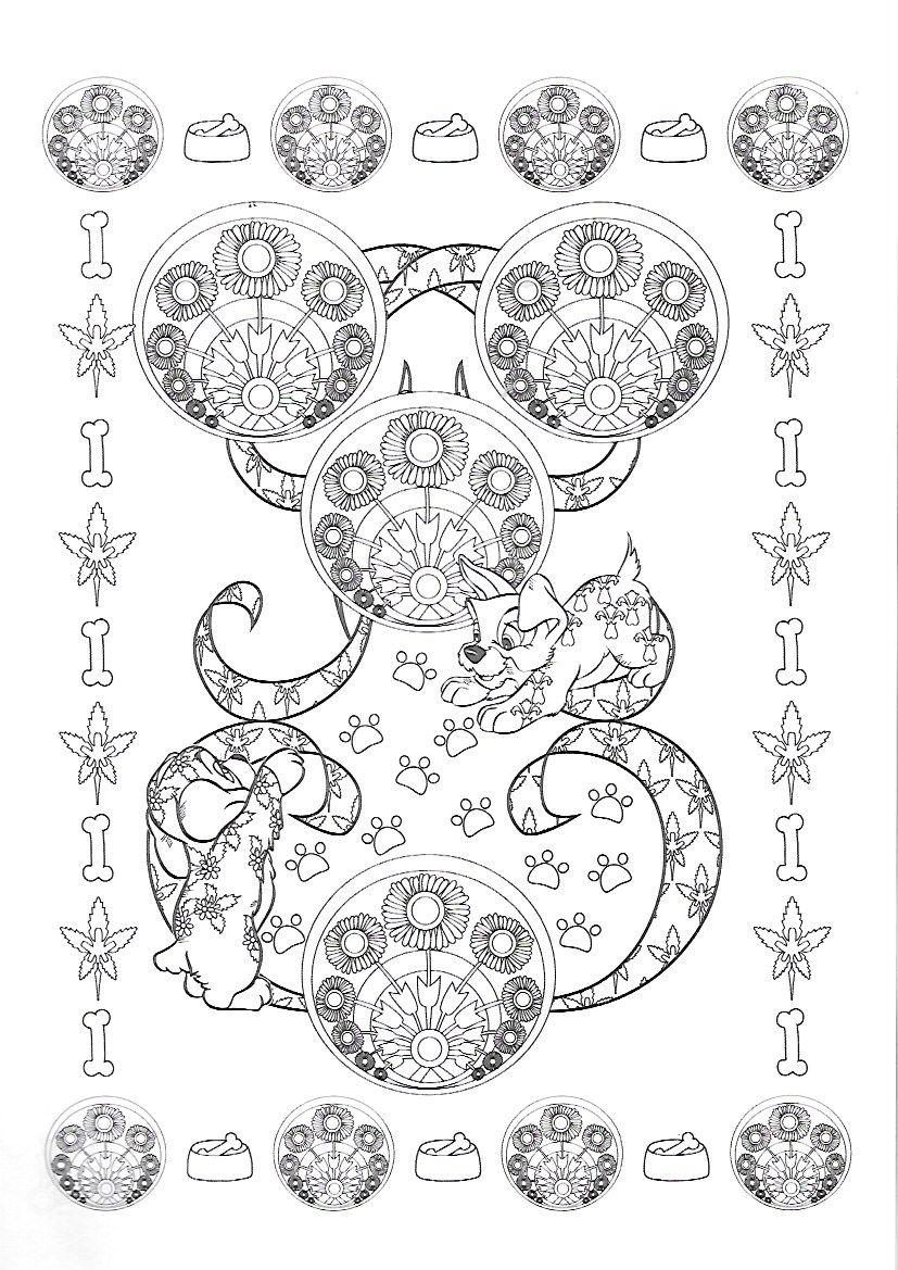 Famoso Coloriage La Belle Et Le Clochard 17 Patrón - Dibujos Para ...