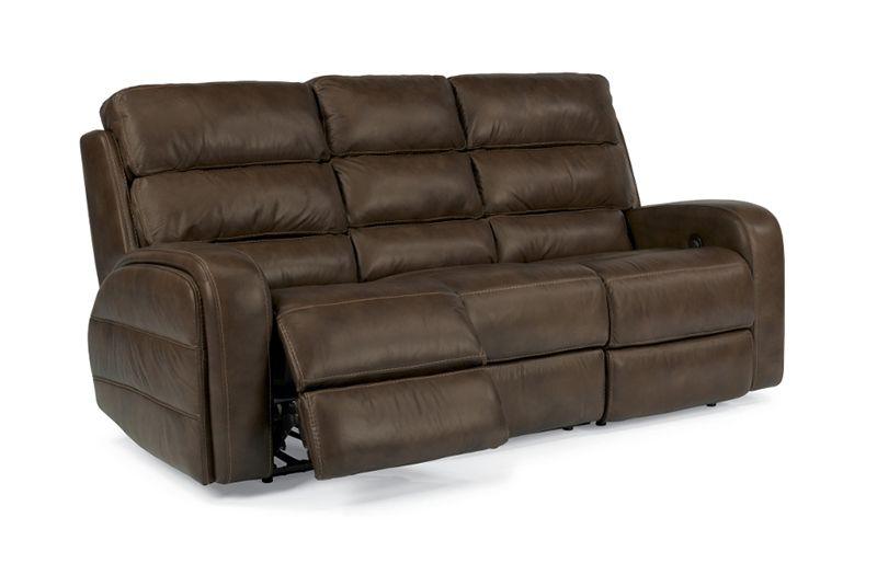 Flexsteel Elliott Power Sofa At Garden, Garden City Furniture