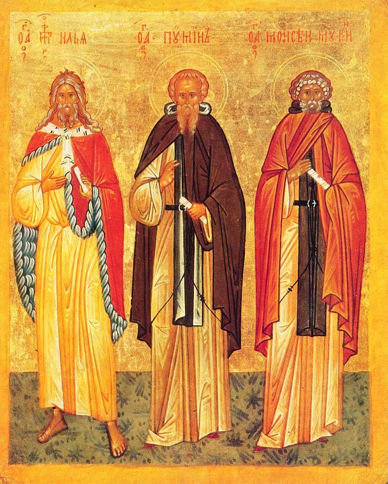 Илия Пророк, преподобный Пимен и Моисей Мурин [Конец XV ...