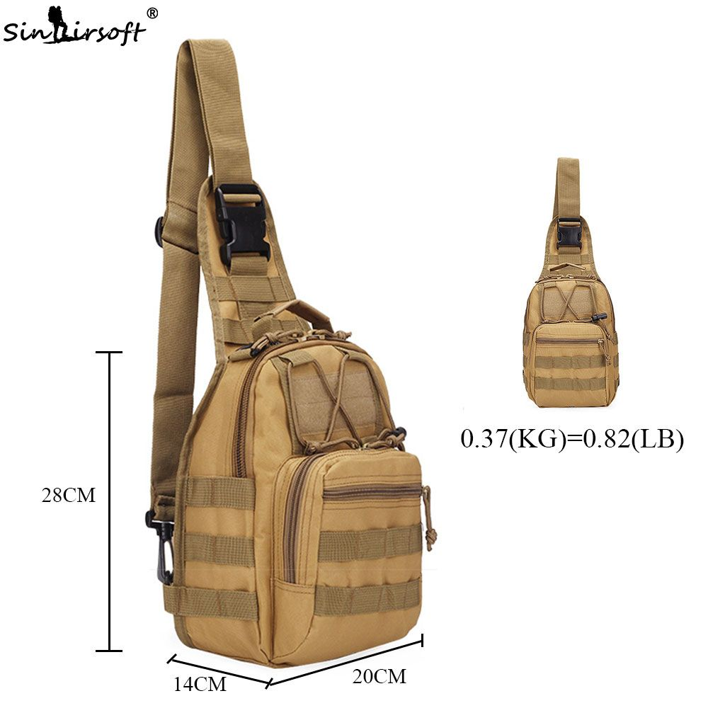 Military Tactical Chest Pack Fly Equipment Nylon Wading Chest Pack Cross Body Sling Single Shoulder Bag Sports & Entertainment