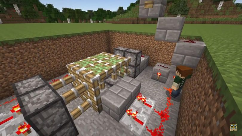 minecraft redstone trap | How to Make Lava Drowning Trap in