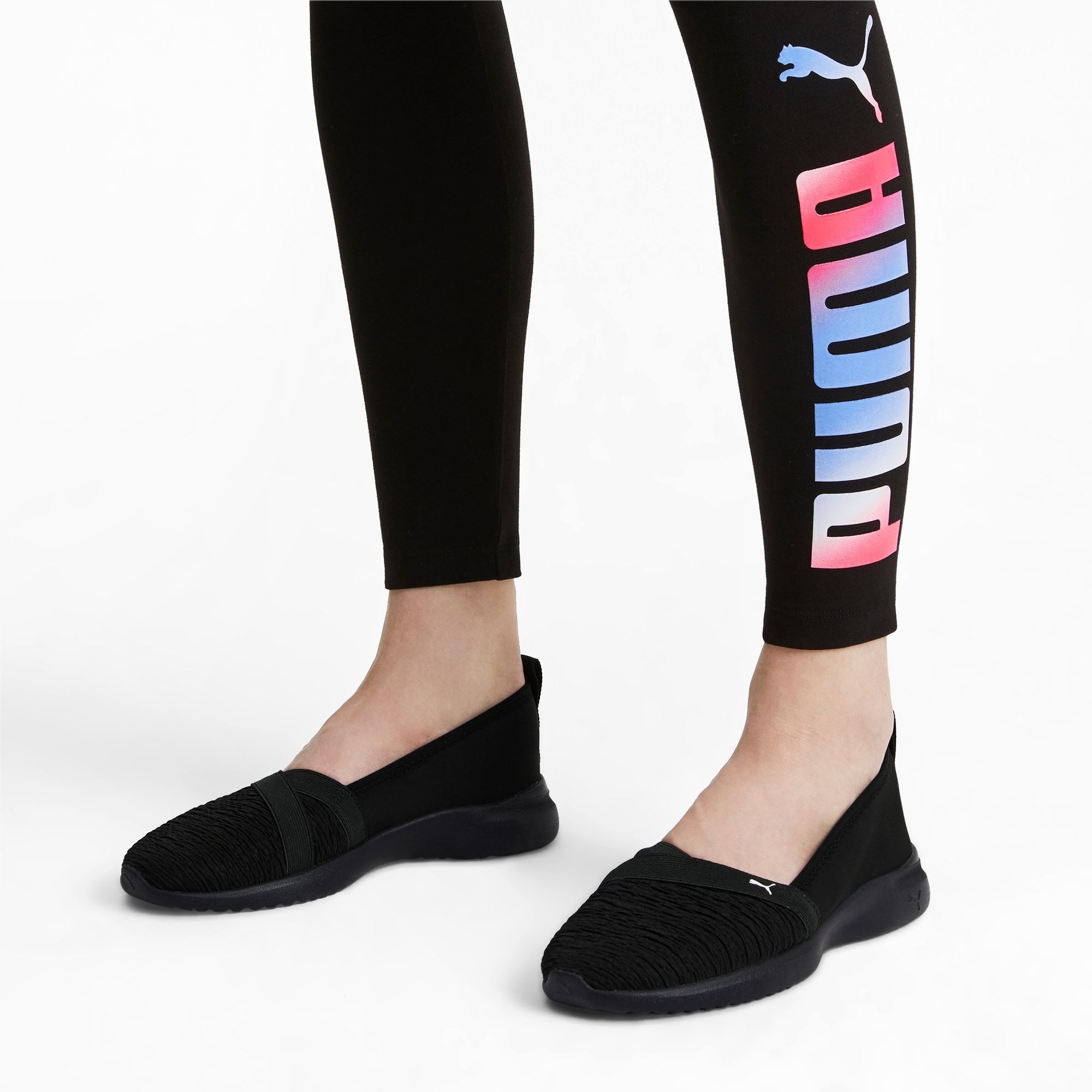 PUMA Adelina Slip-On Basketball Shoes for Women, Black / White ...