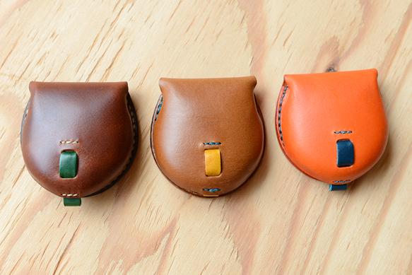手のひらサイズのコインケース ブッテーロ革仕様 名入れ可能 コンパクトサイズ メンズ レディース プレゼント 革 小銭入れ ブッテーロ 小銭入れ