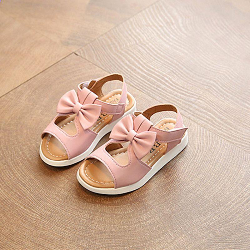 2017 Nowa Letnia Dziewczynka Buty Buty Maluch Dzieci Dziewczyny Sandaly Dzieci Pu Skorzane Sandaly Peppa Buty Dla Chaussure Enfant Bialy Shoes Sandals Fashion