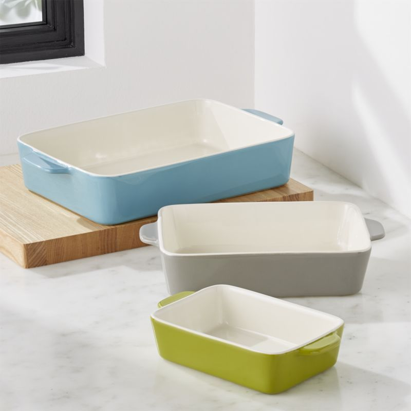 Avery Ceramic Baking Dishes Set Of 3 Reviews Crate And Barrel Ceramic Baking Dish Baking Dish Set Baked Dishes