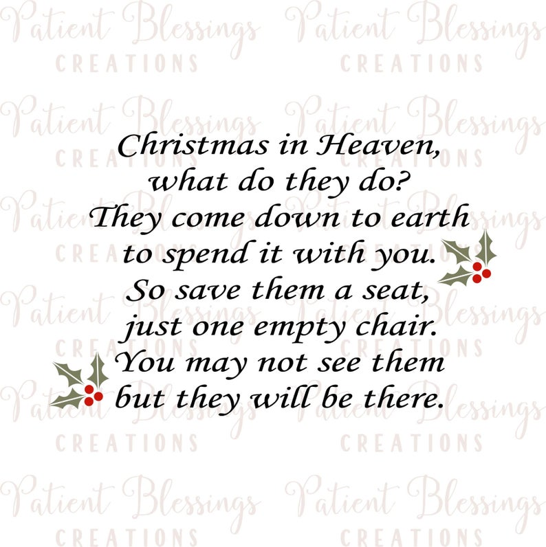 Download Christmas in Heaven, What do they do? They come down to ...