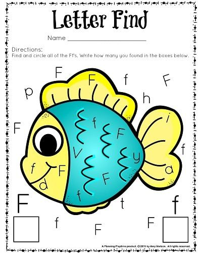 Cute Letter Find Worksheets with a Freebie | Worksheets ...