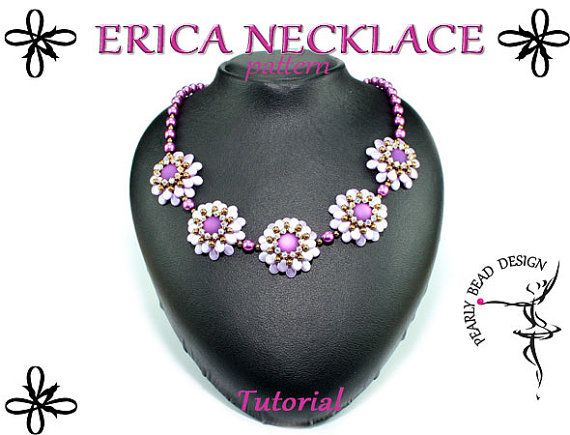 ERICA NECKLACE with PIP beads pattern tutorial by PearlyBeadDesign