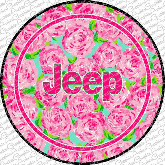Lilly Pulitzer Inspired Jeep Tire Cover Custom Made For You