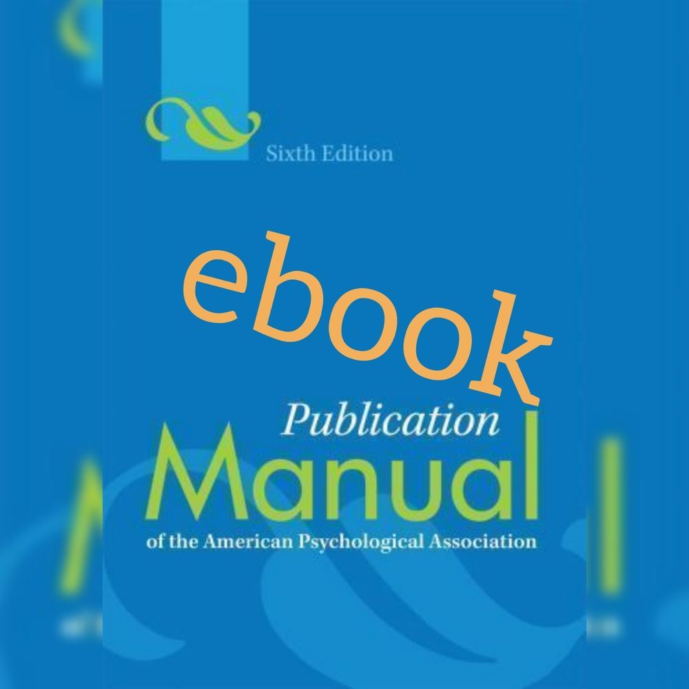Pdf Publication Manual Of The American Psychological Association 6th American Psychological Association Psychology Good Books