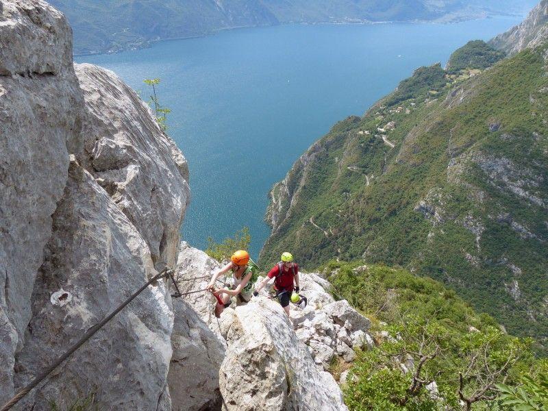 Klettersteig Haiming : Klettersteige am gardasee: purer genuss: via ferrata fausto i love