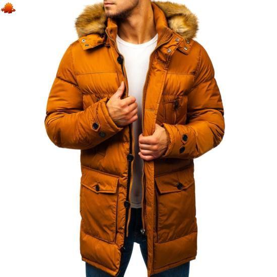 425787af57 Férfi télikabát #R110 - mustár | Kabát | Winter jackets, Jackets és ...