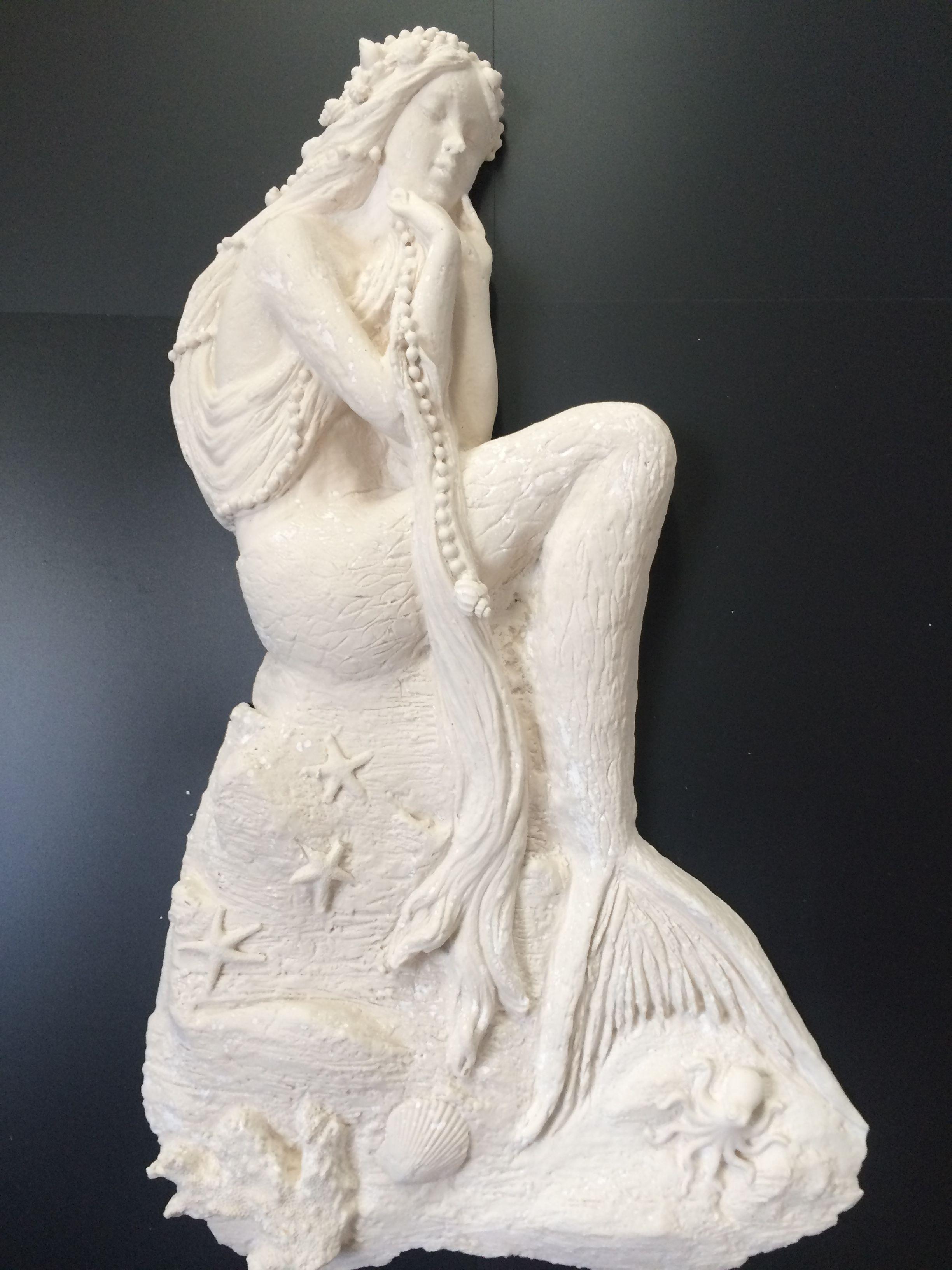 High Relief Sculpturethe Mermaid Sculpted By Ellie Ellis CMS - Artist uses drywall to create extraordinary sculptures