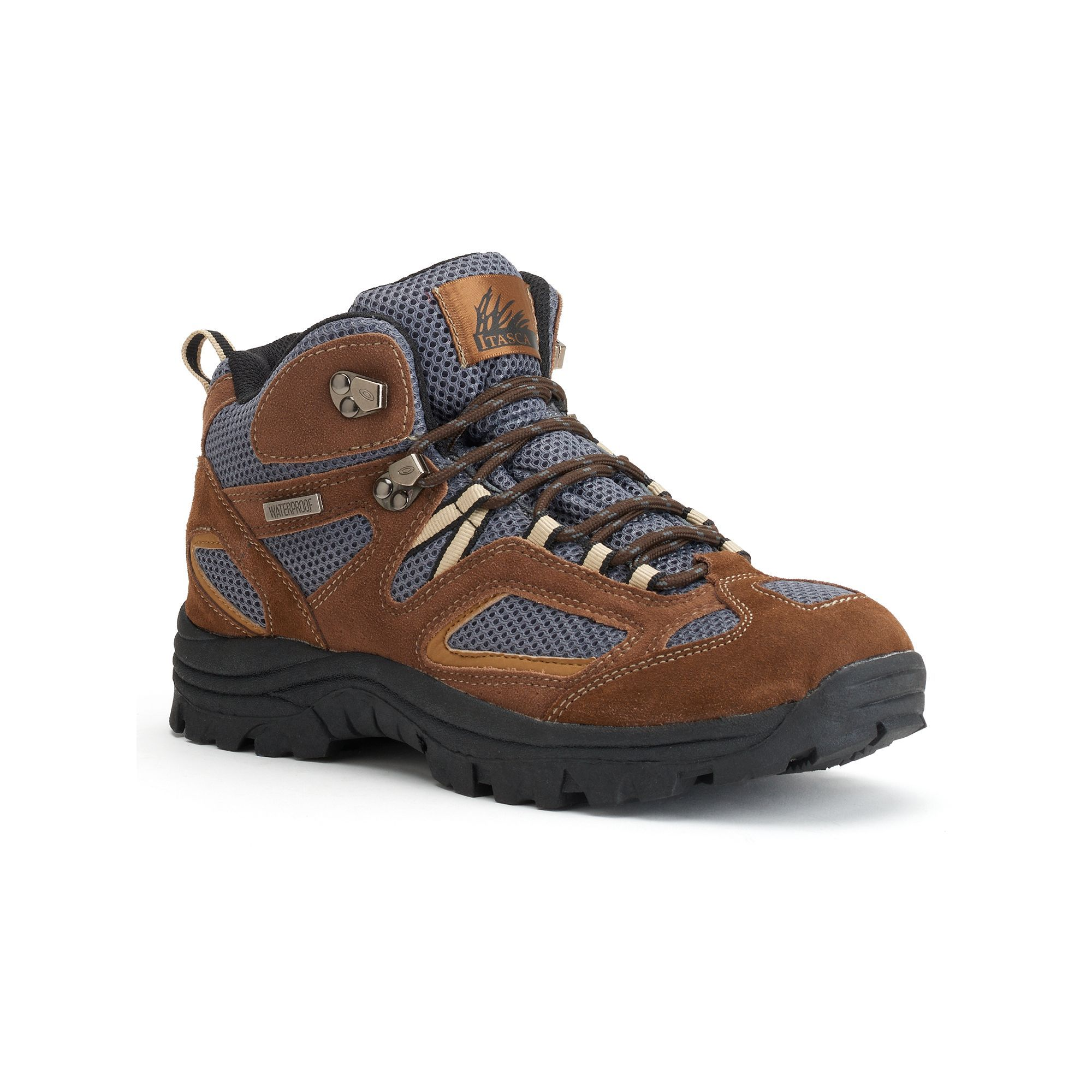 Itasca Ridgeway Mens Lightweight Hiking Boots Size 14 Wide Brown