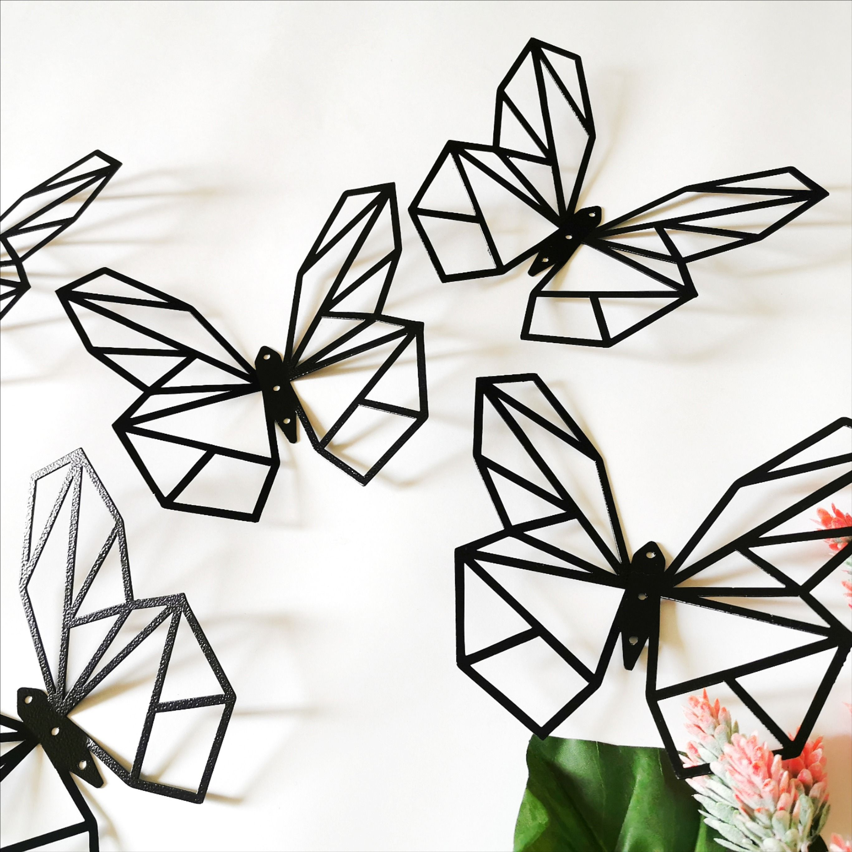 3d Butterflies Metal Decor Metal Butterflies Wall Etsy Butterfly Wall Metal Wall Sculpture Metal Decor