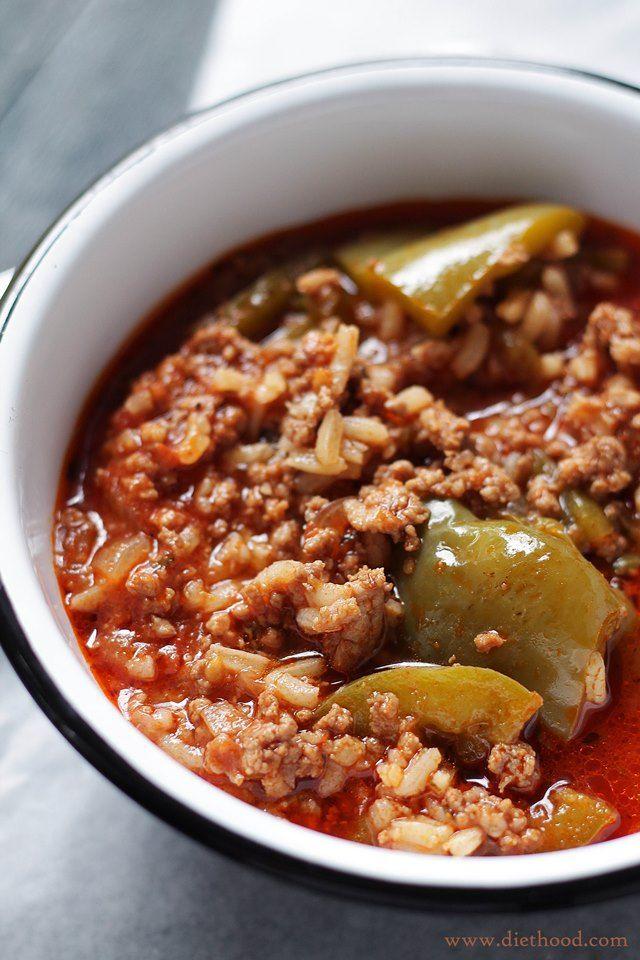 Easy stuffed bell pepper soup recipe