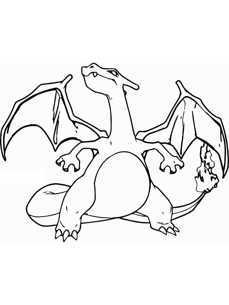 charizard coloring pages. Charizard is one of the monsters