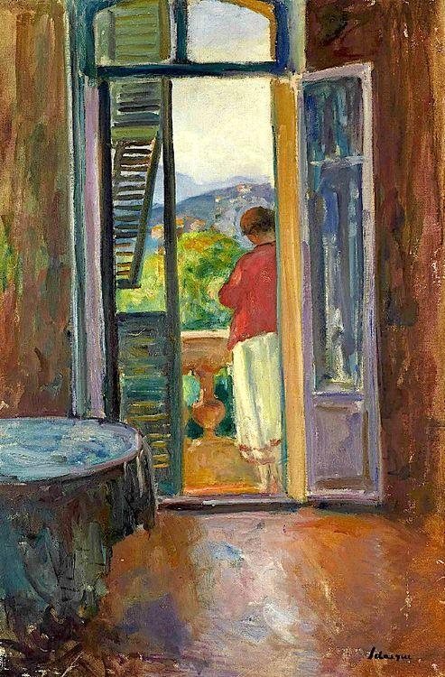 Sur le balcon, au Cannet - Henri Lebasque 1865-1937
