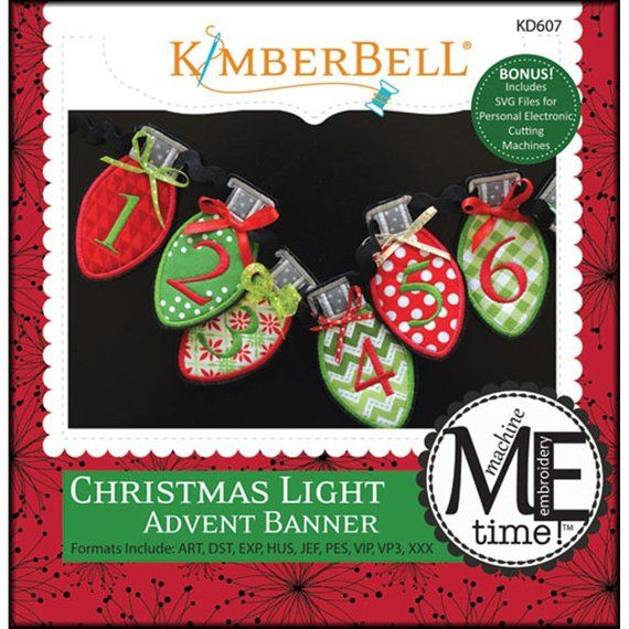 Cd Christmas Light Advent Banner By Kimberbell Kd607 Machine