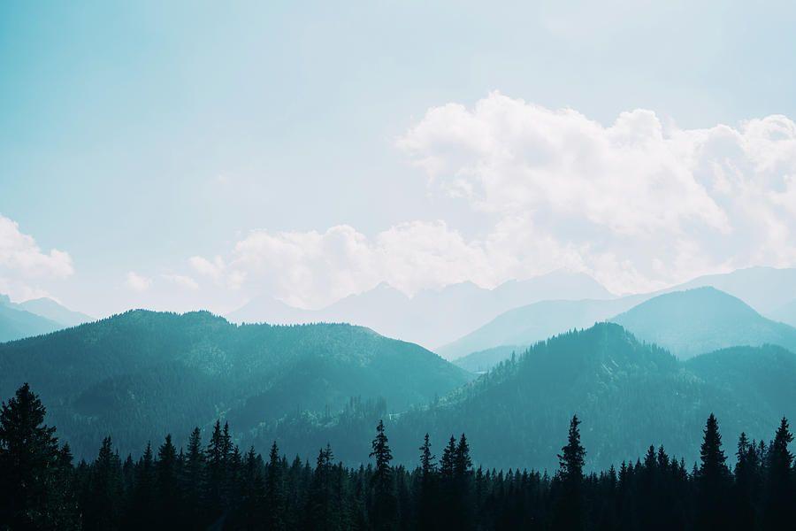 Blue Mountain Silhouette Landscape Mountain Silhouette Blue Mountain Landscape Artist