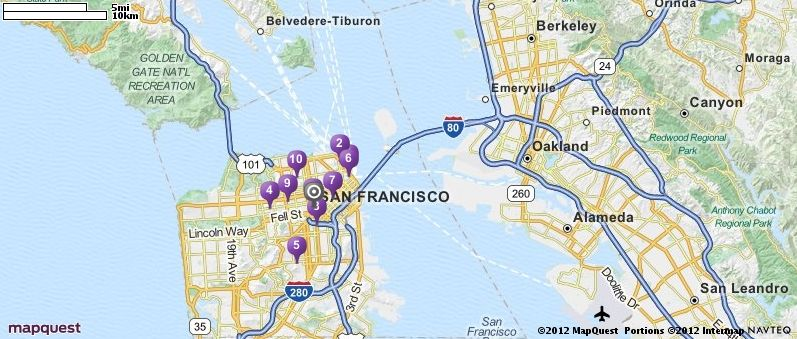 throughout san francisco in San Francisco California MapQuest