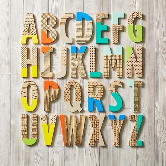Wood Shop Letters Wooden Letters Wooden Alphabet Letters Wooden Letters Decorated