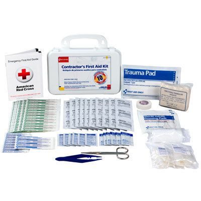 #firstaidresponder, #FirstAidKits *9300-10P Construction First Aid Kit Contractor 10 Person Plastic Kit *This 96 piece, contractors first aid kit includes an assortment of bandages, gauze pads, tape and ointment all contained in a sturdy plastic case with gasket.  *Shop Now!