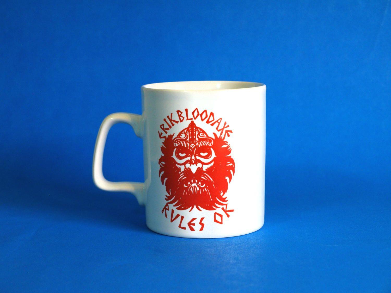 Kiln Craft Erik Bloodaxe Rules Ok Viking Mug - 70s Vintage Retro ...