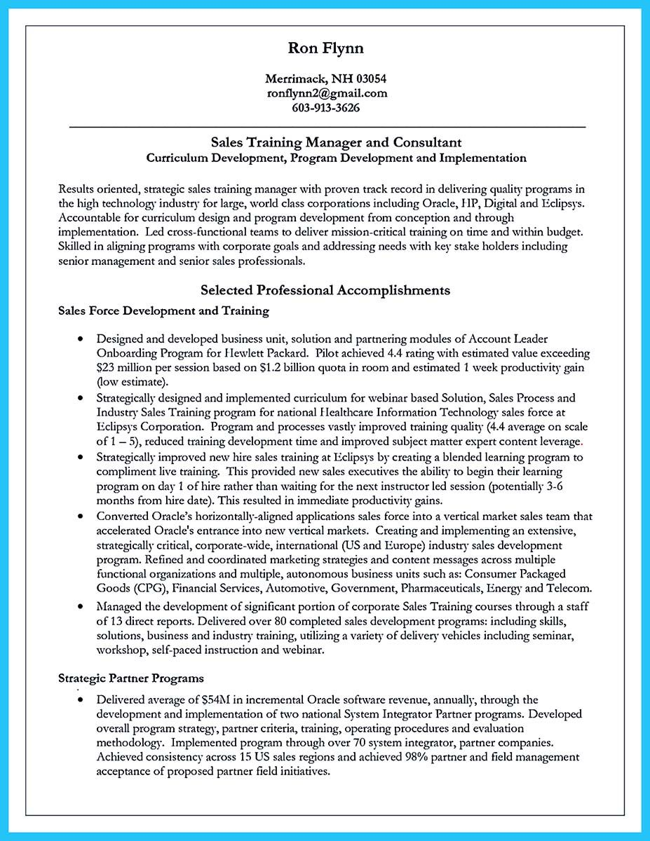 awesome Brilliant Corporate Trainer Resume Samples to Get