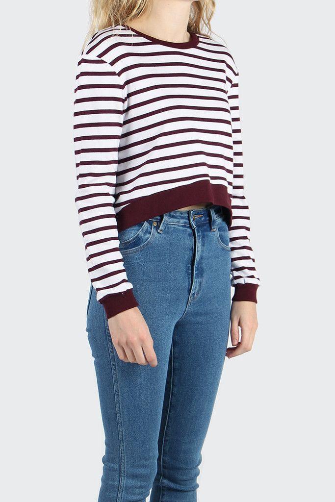 GOOD AS GOLD | Streetwear, Fashion, Sneakers & Accessories — Building Blocks Sweater - white/burgundy stripe