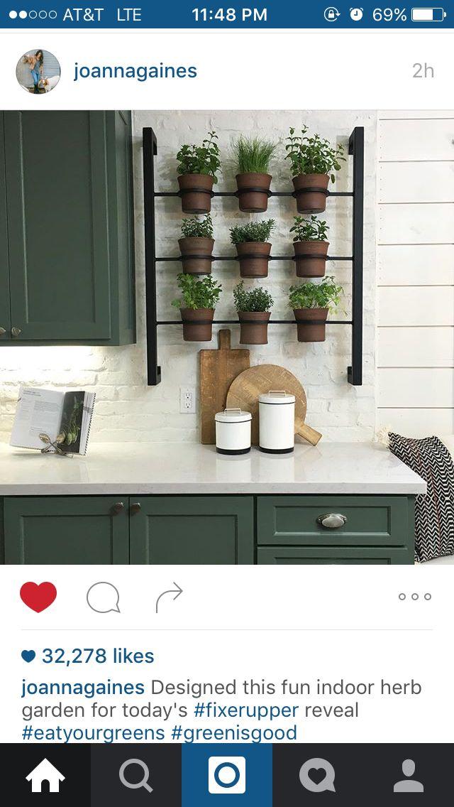 fixer upper kitchen with herb garden herb garden in on indoor herb garden diy wall kitchens id=57285