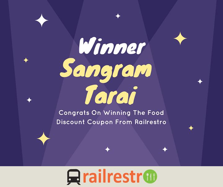 congrats to sangram on winning food quiz discount coupon from