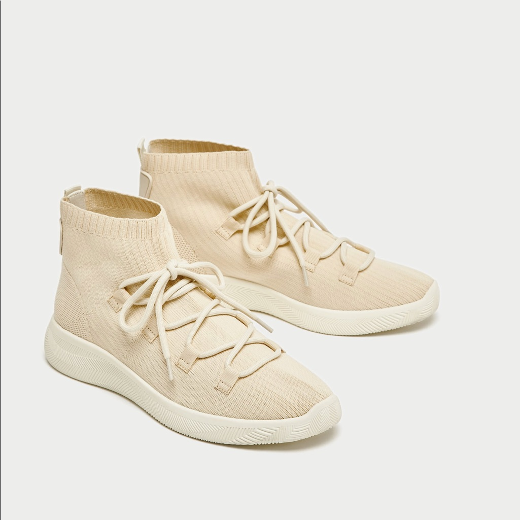 Style Color ShoesSock Lace Up Top Zara SneakersNwtEu37 vI7Ygfymb6