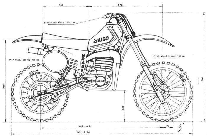 1980 Maico Drawing Sketsa Mobil Mobil Klasik