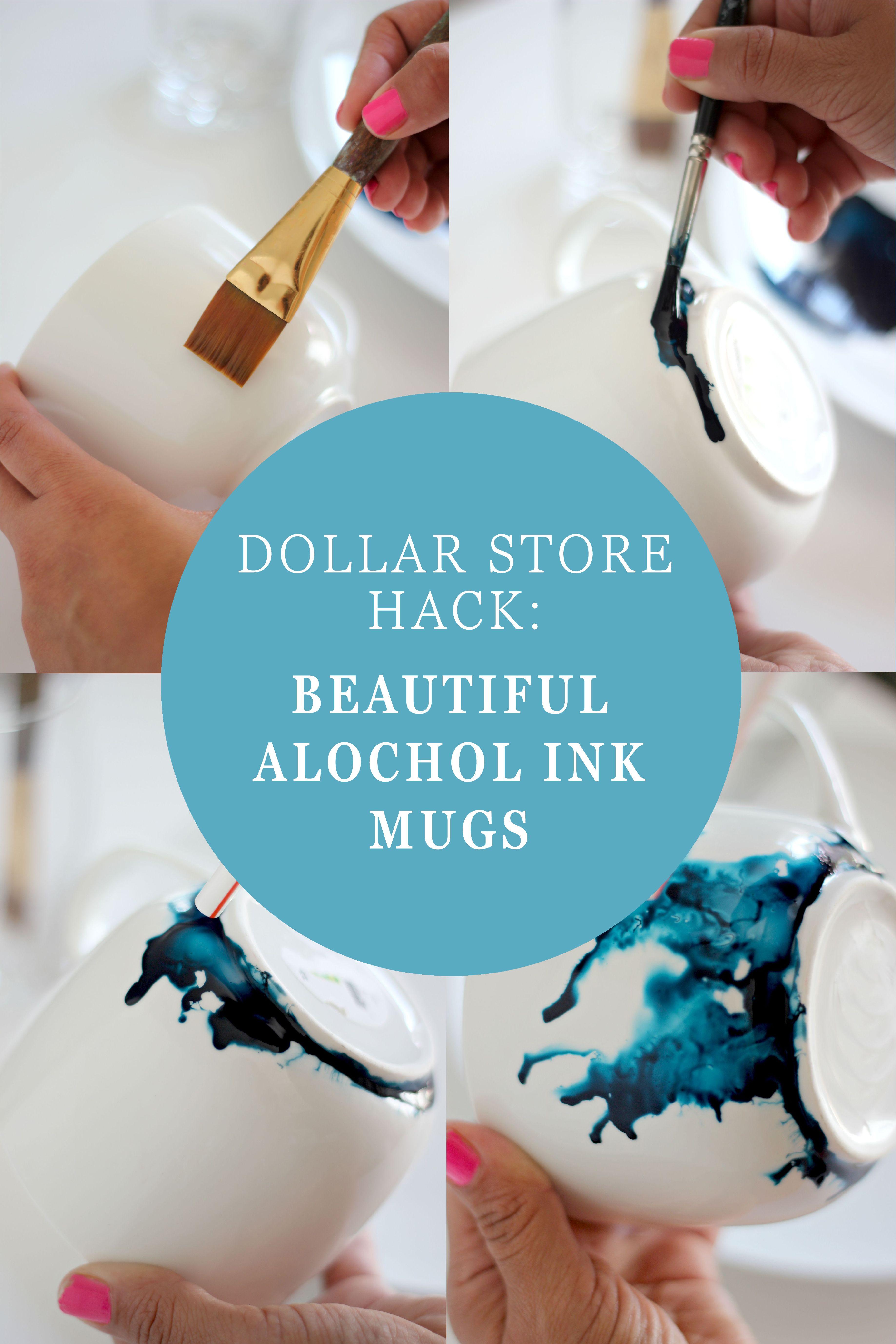 Dollar Store Hack: Beautiful Alcohol Ink Glasses - Kopjes, Creatief ...